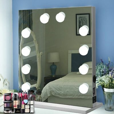 Chende Tabletops Vanity Mirror Hollywood Style with 10 LED bulbs BT