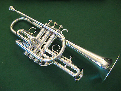 King Super 20 Silver Sonic Master Cornet with Nice Original Case and King 7M MP