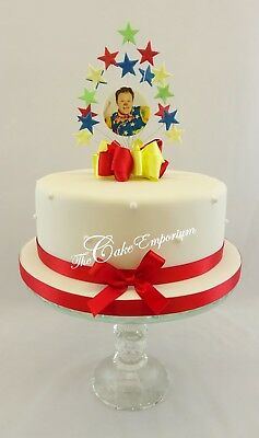 Mr Tumble Star Burst Birthday Cake Topper or Diamante Number With Ribbon