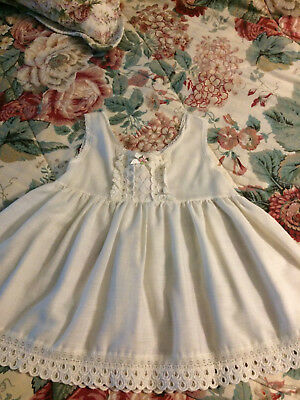 Vintage baby slip size 2 with lace