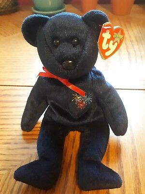 TY Beanie Baby Sparks The Bear Beautiful Beanie Tags Attached