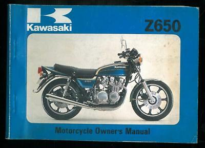 Owner's Manual KAWASAKI Z 650 C3 - 1978/79 Owners Manuel 1st Edition en Anglais