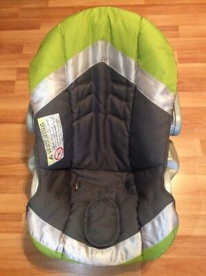 Baby Trend Ez Loc Infant Car Seat Cover Cushion Part Replacement Green Gray