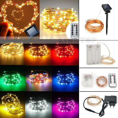 10~400LED String Copper Wire Fairy Light Battery/USB/DC12V Xmas Party Decor Lamp