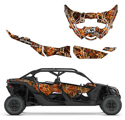 CAN AM MAVERICK X3 Max Body Armor F Decal Graphic Kit Wraps