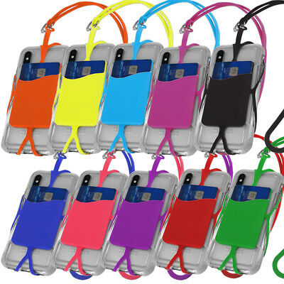 KIQ Cell Phone Lanyard Strap Universal Smartphone Case Cover ID Holder Necklace