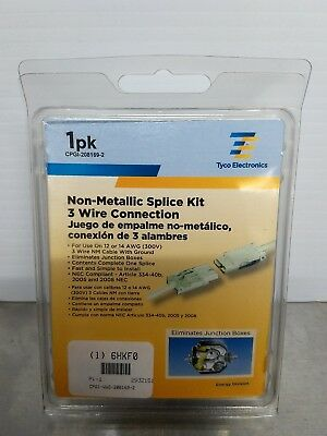 Tyco Electronic CPGI-WWG-208169-2 non-metallic 3 wire connection splice kit