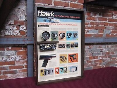 Original Vintage Hawk Gauge Display Mario Andretti Parnelli Jones Ferrari