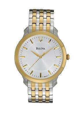 Bulova Men's Quartz Yellow Gold and Silver-Tone Bracelet 41mm Watch 98A121
