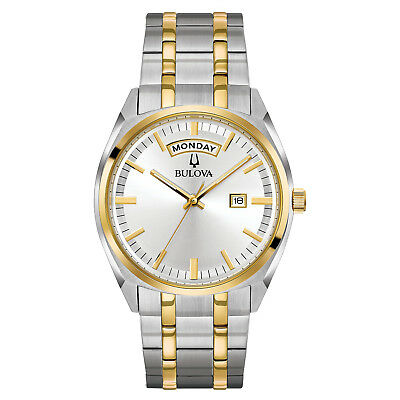 Bulova Men's 98C127 Quartz Yellow Gold and Silver-Tone Bracelet 39mm Watch