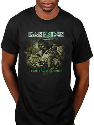 Official Iron Maiden From Fear To Eternity Distressed T-Shirt Seventh Son Killer