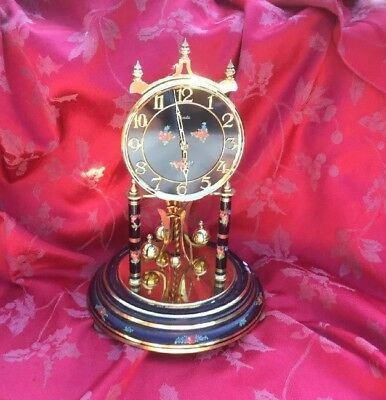 Large Kundo Black Dial Anniversary Clock For Spares Or Repair Nice Dial