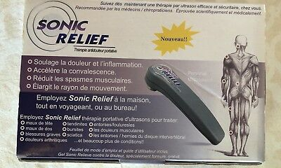 Original Sonic Relief Portable Pain Therapy Kit Ultrasound
