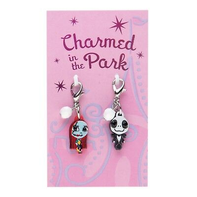 Disney Parks Charmed In The Park Jack Skellington and Sally Charm Set - Dangles