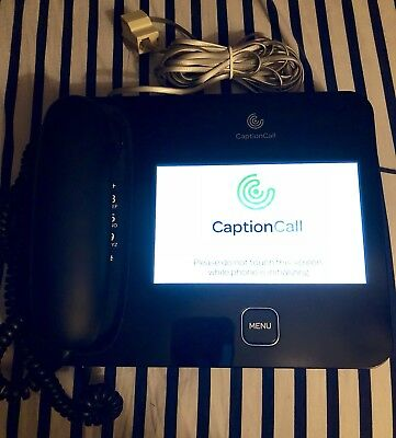 CAPTION CALL Touch Screen Closed Caption Telephone 57T Hearing Impaired Phone
