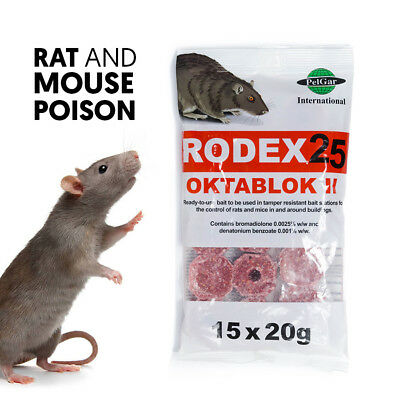 Rat Poison Block Strong Killer for Mouse Poisen Mice Rat Rodent Bait Box Station