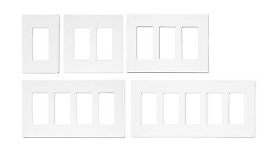 Unbreakable Screwless Decora Wall Plate Outlet / Switch Cover 1-5 Gang White UL