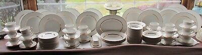 126 Pcs Wedgwood Enoch England Golden Swirl Dinner Set +Serv Pieces Large Set