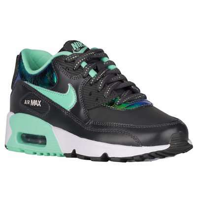 classic fit 8e627 8d924 NIKE AIR MAX 90 Youth (Size 6.5) Anthracite Green White 859633-001