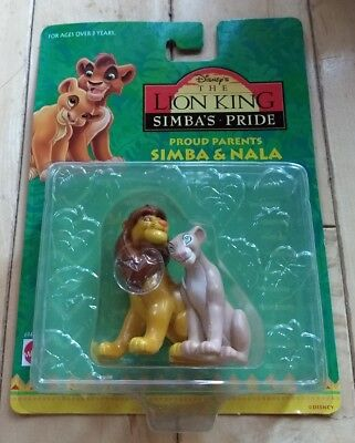 Rare Disney's The Lion King Simba's Pride Simba & Nala Figures Mattel sealed