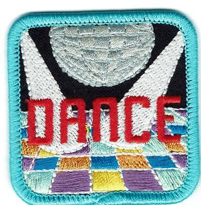 """Party /""""DISCO DANCE/"""" w//MUSIC NOTE PATCH-Iron On Embroidered Applique//Dance,Music"""