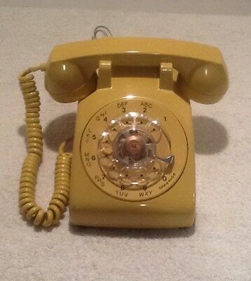 Vintage Gold Rotary Dial Phone Western Electric Bell #500 Refurbished Nos!