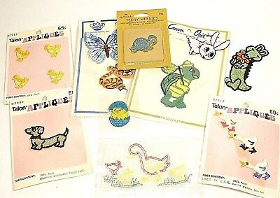 New  Lot of 15 Vintage Animal Appliques Sew On