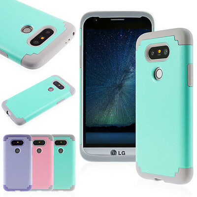 Slim Hybrid Impact Rugged Rubber Shockproof Hard Armor Case Cover for LG G4 G5