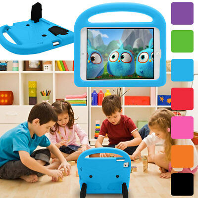 For iPad Mini 1 2 3 4 Kids Handle Stand Soft Rubber Shockproof Tablet Case Cover