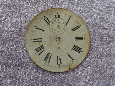Ansonia Alarm Clock Dial Original Untouched Condition