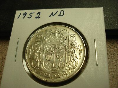 1952 ND - Canada - silver 50 cent coin - Canadian half dollar