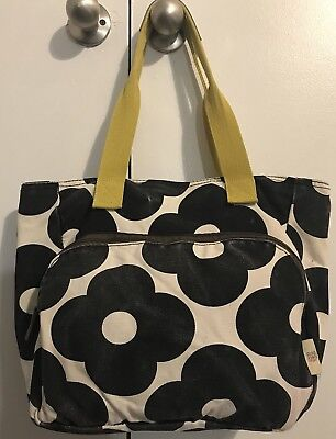 46759c00cf02 Orla Kiely Target Black and White Canvas Flowers Yoga Tote Bag 1 of 11 See  More