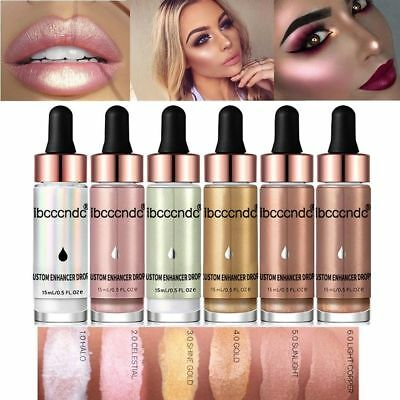 Ibcccnbc Liquid Highlighter Shimmer Cream Face Illuminator Glow Bronzer Makeup