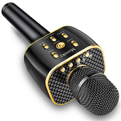 Q5 Handheld KTV Microphone Wireless Bluetooth Karaoke Home Mic Speaker Player