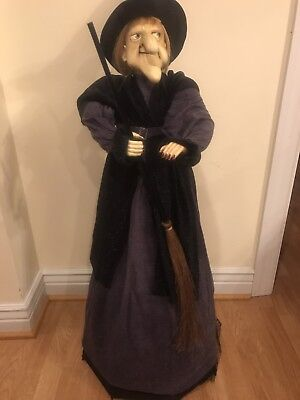 halloween cackling eye lights standing witch handcrafted 40 46tall