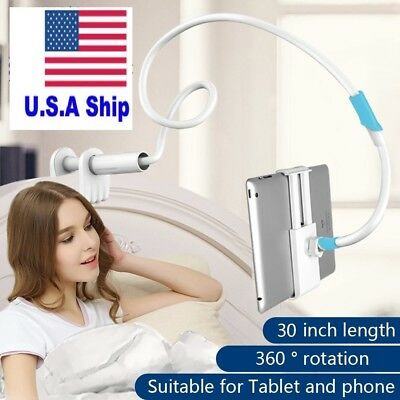 Universal Tablet or Mobile Lazy Holder Mount Flexible Long Arm Stand 360 Roating