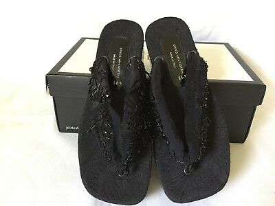 3bcf947232e4 NEW 860 DRIES VAN Noten Ladies Black T-Bar Embellished Sandals Sz US ...
