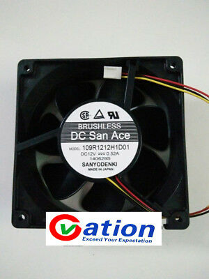 For SANYO 109R1212H1D01 Double ball cooling fan DC12V 0.52A 120×120×38mm 3pin