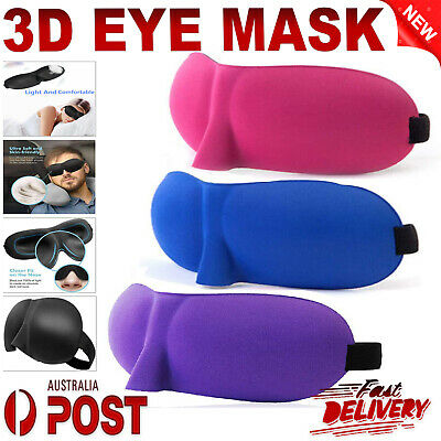3D Foam Padded Travel Eye Mask Sleep Sleeping Cover Rest Eyepatch Blindfold New