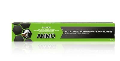 Ammo Green Rotational Palatable Horse Wormer Paste Nature Vet Equine 32.5g
