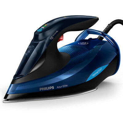 Philips GC5031 Azur Elite 2400W Powerful Steam Iron Ironing Clothes/Garment Blue
