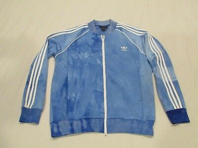 3346112189f64 Adidas Pharell Williams Human Race Mens Light Blue Faded Track Jacket Sz Xl  Nwot