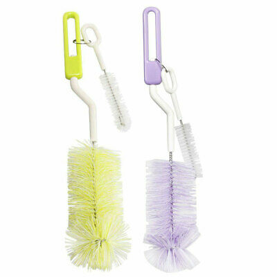 1x Pigeon Cleaning Brush Baby/Bottle/Nipple/Feeding/Milk Cleaner Assorted Colour