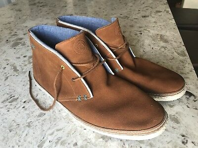 012b55ae39c3b1 ... Ted Baker Men s Abdon 2 Brown Suede Hightop Espadrilles Chukka Boots  Size 12 official site ...