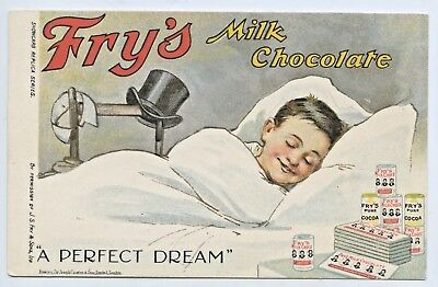 "C.1908 Advertising Litho Npu Postcard Fry's Chocolate ""a Perfect Dream""  N20"