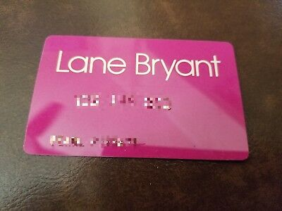 Vintage Expired Lane Bryant Credit Card very  Rare and Amazing Color Condition..