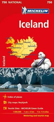 Iceland National Map 750 by Michelin (Sheet map, folded)