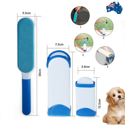 2018 Fur Wizard Pet Hair Lint Remover Magic Brush Self-Cleaning Base Travel Size