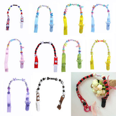 Toddler Baby Hand Made Dummy Pacifier Clip Chain Holder Soother Nipple Strap