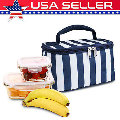 Insulated Lunch Bag Thermal Cooler Box Carry Tote Picnic Case Storage Handbag-US